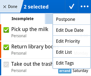 how to send tasks in remember the milk