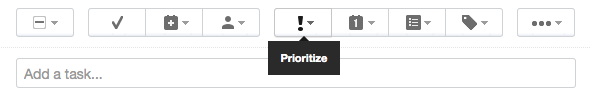 Toolbar Prioritize