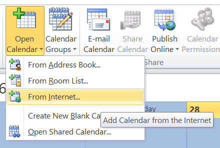 Outlook Open Calendar From Internet