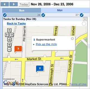 Remember The Milk map in Google Calendar